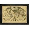Brookpace Fine Art Vintage Map 'Mappemonde, 1782' Framed Graphic Art