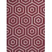 KAS Rugs Dimensions Red Concentro Area Rug