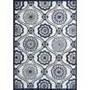 KAS Rugs Allure Ivory/Navy Mosaic Area Rug