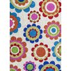 KAS Rugs Kozy Kids Cream Groove Area Rug