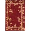 KAS Rugs Sparta Red Bamboo Border Area Rug
