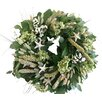 "From the Garden 18"" Seashell and Hydrangea Wreath"
