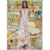 LivCorday Fashion Travel Vintage Advertisement Wrapped on Canvas