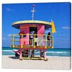 LivCorday Miami Beach Hut 2 Photographic Print Wrapped on Canvas