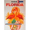 LivCorday Florida Travel Vintage Advertisement Wrapped on Canvas