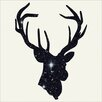 LivCorday Deer Antlers Graphic Art Wrapped on Canvas