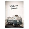 "David & David Studio Gerahmtes Poster ""California Dreamin'"" von Flora David, Grafikdruck"