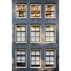 David & David Studio 'Black Brick Front 2' by Philippe David Framed Photographic Print