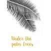"David & David Studio Gerahmtes Poster ""Under The Palm Trees"" von Flora David, Grafikdruck"
