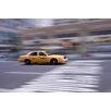 David & David Studio 'Yellow Cab Downtown Manhattan' by Philippe David Framed Photographic Print