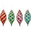 The Holiday Aisle Shatterproof Swirl Drop Christmas Ornament (Set of 576)