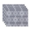 The Holiday Aisle Star Light Geometric Print Placemat (Set of 4)