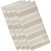 The Holiday Aisle Star Stripes Print Napkin (Set of 4)
