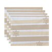 The Holiday Aisle Star Stripes Stripe Print Placemat (Set of 4)
