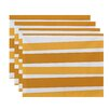 The Holiday Aisle Stripe Print Placemat (Set of 4)