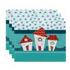 The Holiday Aisle Christmass Geometric Print Placemat (Set of 4)