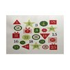 The Holiday Aisle Advent Calendar Red Indoor/Outdoor Area Rug