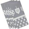 The Holiday Aisle Dreidels Geometric Print Napkin (Set of 4)