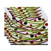 The Holiday Aisle Doodle Decorations Geometric Print Placemat (Set of 4)