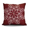 The Holiday Aisle Decorative Snowflake Print Outdoor Throw Pillow
