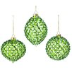 The Holiday Aisle 3 Piece Sequin Glass Ornament