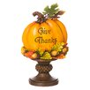The Holiday Aisle Give Thanks Pumpkin Table Decor