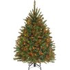 The Holiday Aisle 4.5' Hinged Green Artificial Christmas Tree with 450 Multicolored Lights