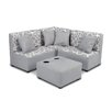 kangaroo trading company Kids Cotton Sectional and Ottoman with Cup Holder