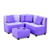 kangaroo trading company Kids Sectional and Ottoman with Cup Holder