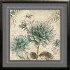 "Star Creations ""Blue Botanical I"" by Aimee Wilson Framed Painting Print"