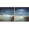 "Star Creations ""Indigo Horizon"" by May 2 Piece Painting Print on Wrapped Canvas Set"