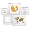 """Star Creations """"Travel the World Collage"""" 5 Piece Framed Graphic Art Set"""
