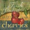 Star Creations Cherries Natural Burlap Box by Kim Lewis Painting Print