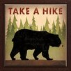 Star Creations Take a Hike Bear by Ryan Fowler Framed Graphic Art