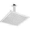 Belfry Cube Fixed Shower Head with Ceiling Arm