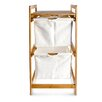 Belfry Bamboo Laundry Storage Bin with 2 Drawers Cabinet
