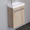 Belfry 44 cm Wandmontierter Waschtisch Happy mit Schrank