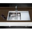 Belfry Minimalist 100cm x 52cm 1.5 Bowl and Drainer Left Hand Main Bowl Kitchen Sink