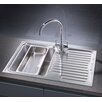 Belfry 80cm x 50cm Compact Single Bowl and Drainer Left Hand Main Bowl Kitchen Sink