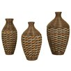 Passport Furniture 3 Piece Wicker Vase Set