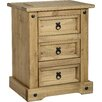 Andover Mills Corona 3 Drawer Bedside Table