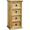 Andover Mills Corona Multimedia Chest with Library Style Drawers