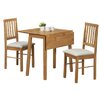 Andover Mills Athens Extendable Dining Table and 2 Chairs