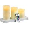 VonHaus 3 Piece Pillar Candle Set