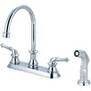 Pioneer Del Mar Double Handle Centerset Kitchen Faucet with Side Spray