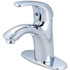 Pioneer Vellano Single Handle Bathroom Faucet with Deck Cover Plate