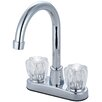 Olympia Faucets Double Handle Deck Mounted Centerset Bar Faucet
