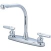 Olympia Faucets Double Handle Deck Mounted Centerset Standard Kitchen Faucet