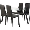 Riley Ave. Hillary Dining Table and 4 Chairs