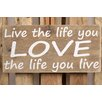 Factory4Home 2-tlg. Schild-Set BD-Live the life, Typographische Kunst
